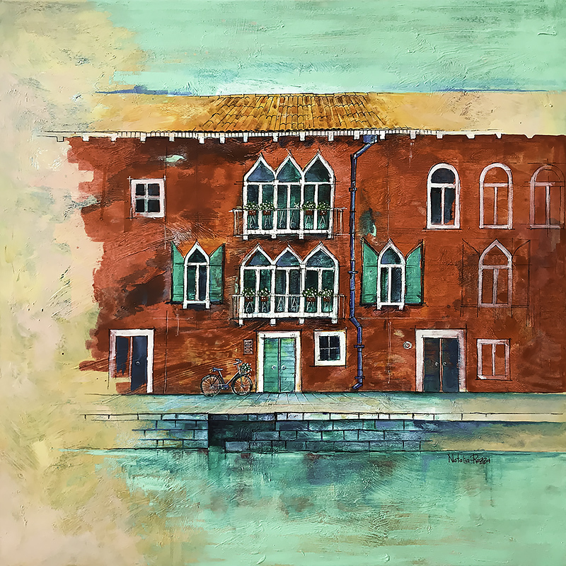 Venetian green (painted with Veronese green)