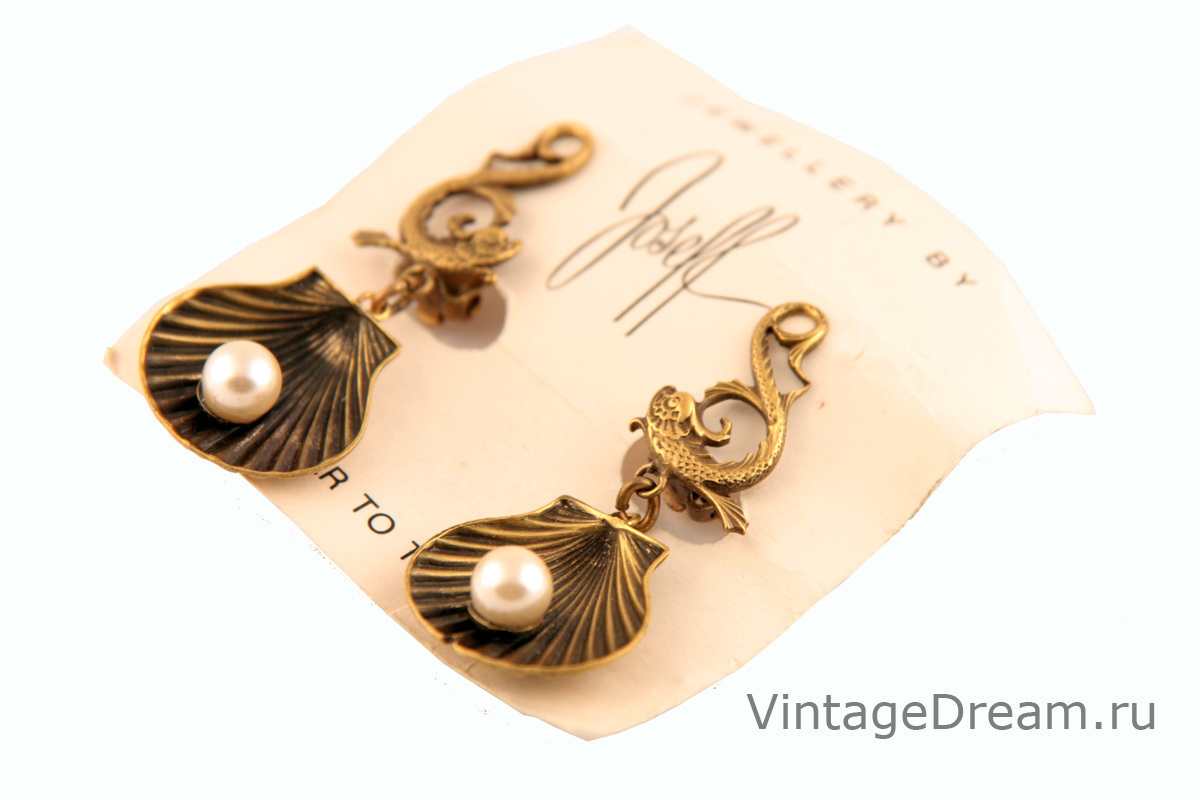 Original marine-style earclips by Joseff of Hollywood