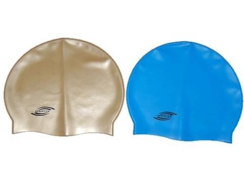 Шапочка для плавания SPRINTER (однотонная).  Классический дизайн.Комфортная в использовании. Материал: упругий, качественный силикон.Полиэтиленовая сумочка на молнии :(SH):