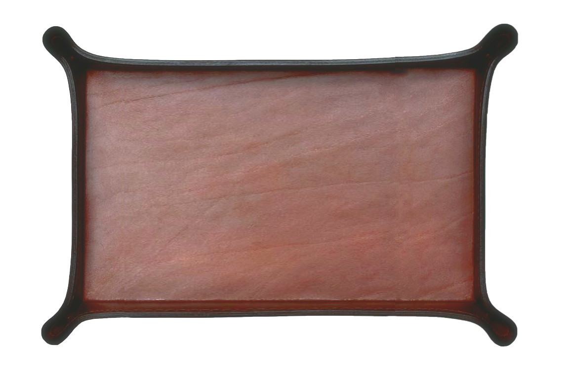 Лоток А4 фигурный BUVARDO LUX из кожи Full Grain Toscana Tan