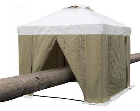 Палатка сварщика 3.0х3.0 (ПВХ+брезент)