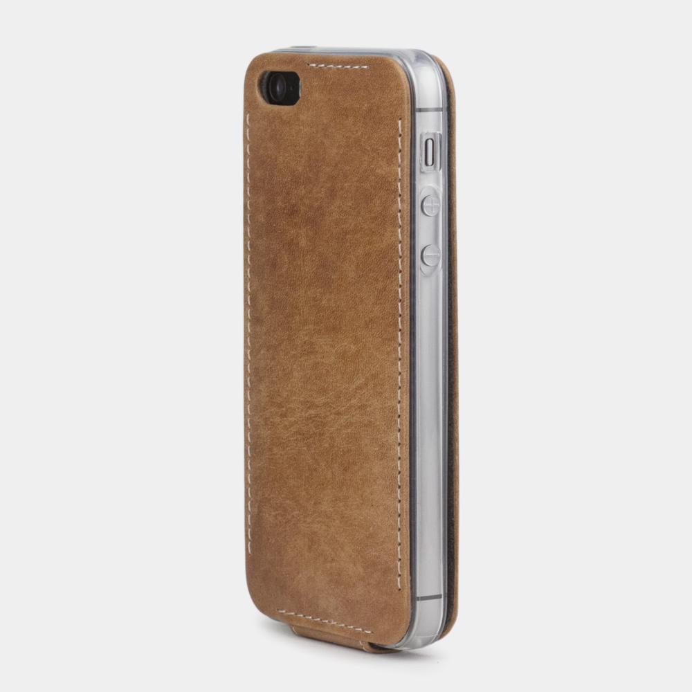 Чехол для iPhone 5S/SE из натуральной кожи теленка, цвета винтаж