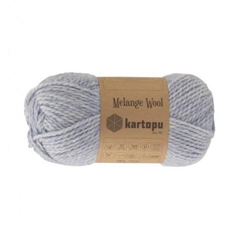 Пряжа Kartopu Melange Wool арт. 632 светлый джинс