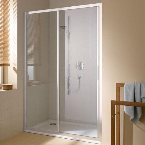 Дверь в нишу Kermi CADA XS   1-створ. раздвиж.дверь 1170-1210/2000 с фикс.панелью справа, стекло прозр., ESG Clean