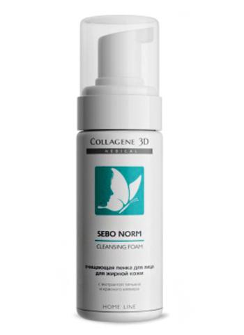 Очищающая пенка для жирной кожи SEBO NORM, Medical Collagene 3D