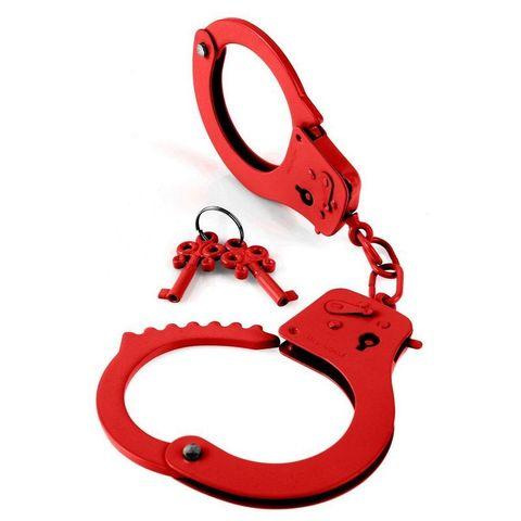 Металлические наручники Designer Cuffs - Red