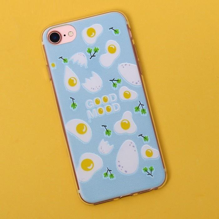 Чехол для телефона iPhone 7 с рельефным нанесением Good mood, 6.5 14 см фото