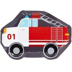 Тарелка фигур Пожарная Машина, 25см, 6шт