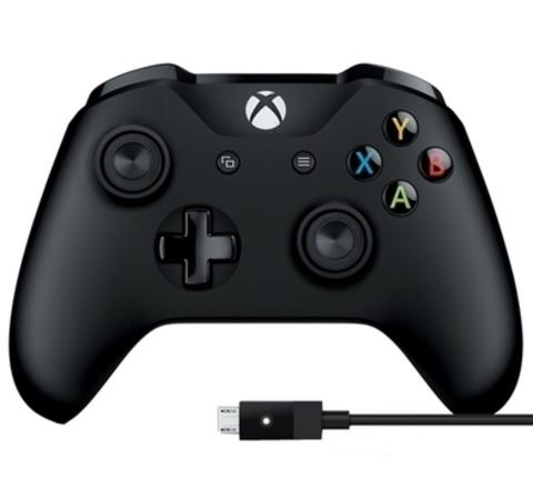 Xbox One Беспроводной геймпад + USB-кабель (черный, 6CL-00002)