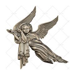 Силиконовый молд № 2116 Ангелы зеркальные