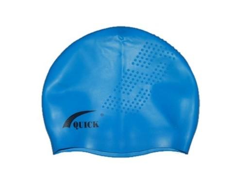 Шапочка для плавания QUICK 3D (точки) Материал:высококачественный силикон. Пластиковая упаковка. :(QB):