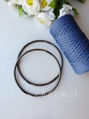 Ручки для сумок металл тёмный никель 14 см, 2 шт