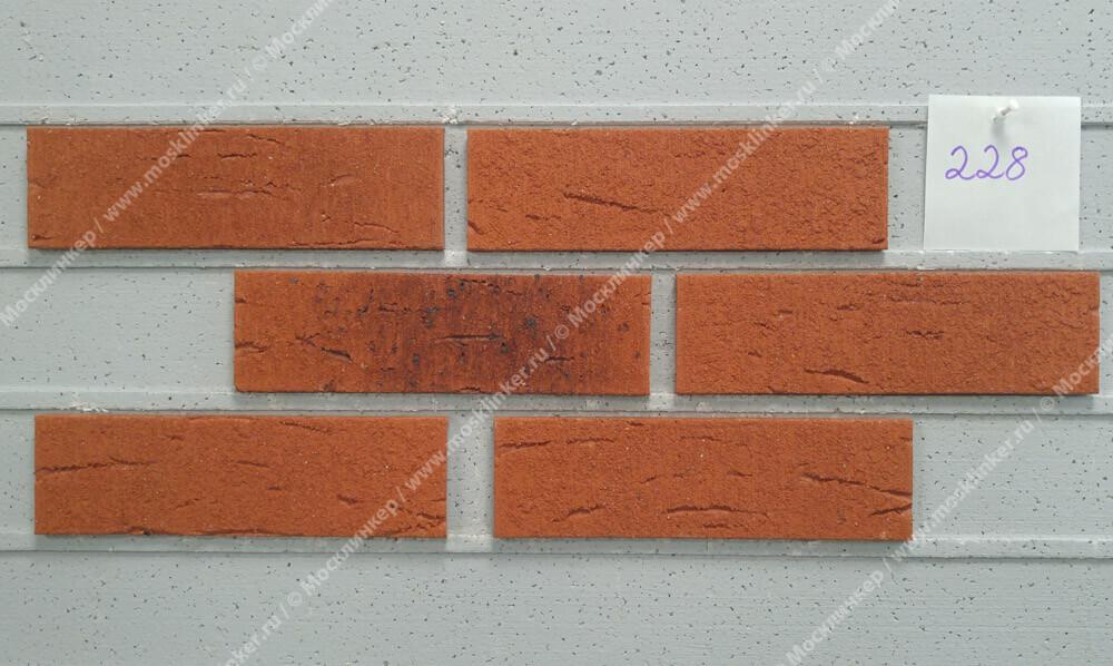 Feldhaus Klinker - R228NF9, Classic Terracota Rustico Carbo, 240x9x71 - Клинкерная плитка для фасада и внутренней отделки