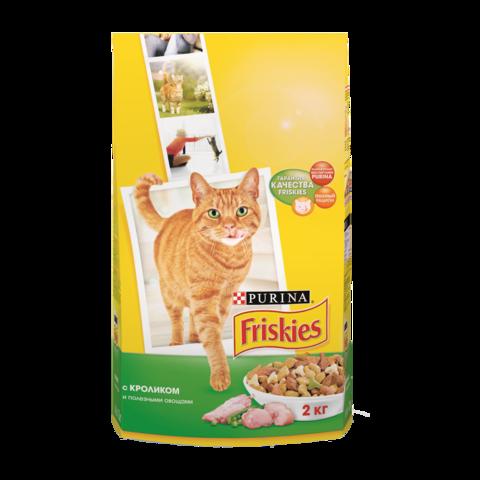 Friskies Сухой корм для взрослых кошек с Kроликом и полезными овощами