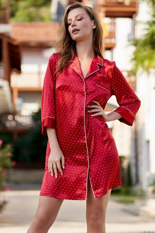 Халат Dorothy 8707 красный Mia-Amore