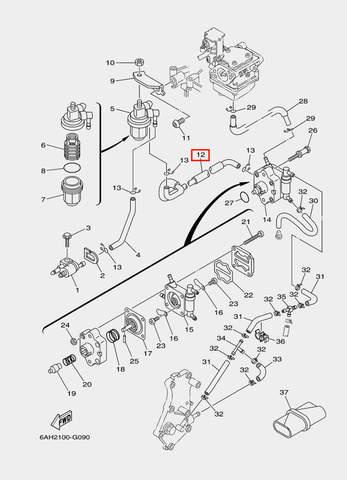 Шланг для лодочного мотора F20 Sea-PRO (9-12)
