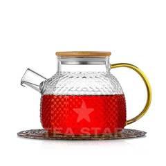 Чайник заварочный стеклянный 900 мл с фильтром из рельефного жаростойкого стекла