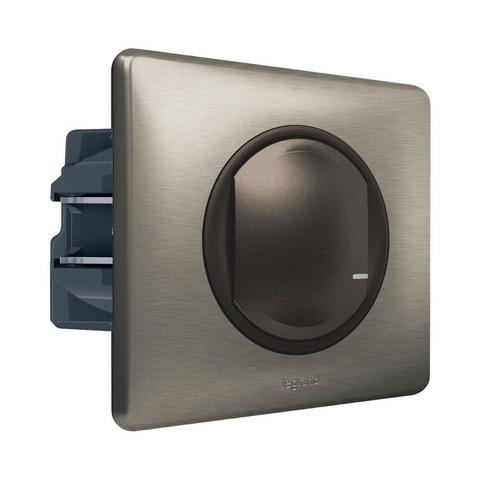 Выключатель с опцией светорегулирования 5-300 Вт 230В. Цвет Графит. Celiane NETATMO. 064891