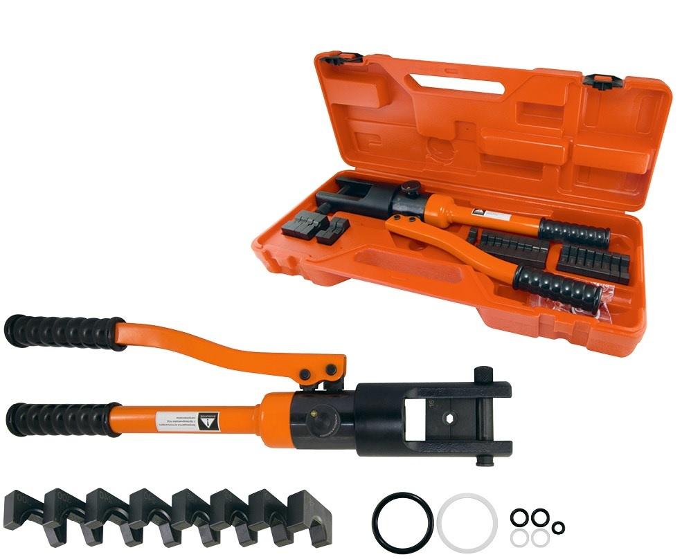 Пресс клещи гидравлические ПГРс-120 с набором матриц (10-120мм2), 8 штук, МастерЭлектрик TDM