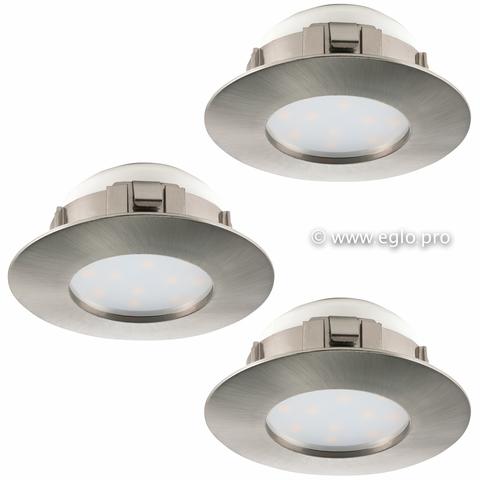 Комплект светильников светодиодных встраиваемых влагозащищенный Eglo PINEDA 95823