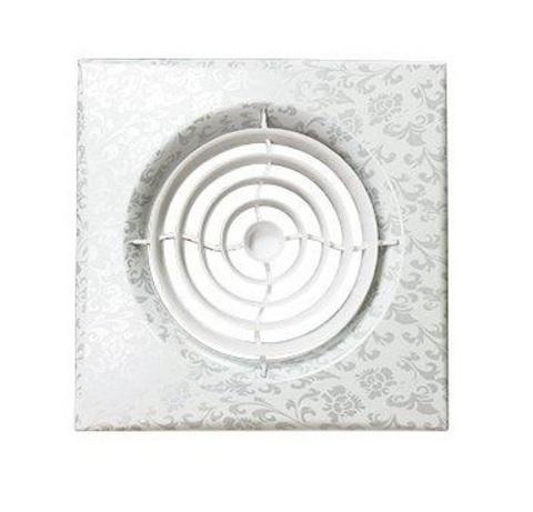 Накладной вентилятор Эра AURA 5C WHITE DESIGN D125 с обратным клапаном