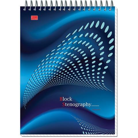Блокнот Stenography А5 60 листов в ассортименте в клетку на спирали (145х203 мм)