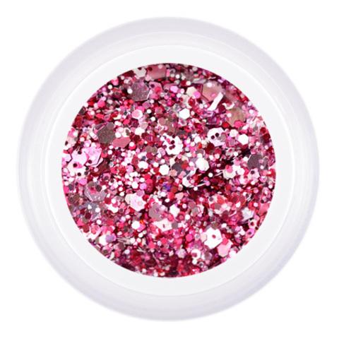 Patrisa Nail, Гель для дизайна Gel Glanz Flirt, цв. розовый микс