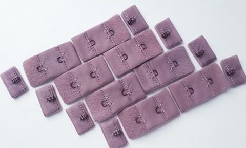 Застежка, 1х2, 1,5см, кофейно-розовый, шт