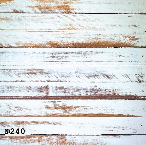 Фотофон виниловый «Потертое белое дерево» №240