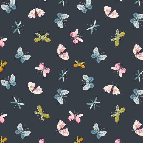 Милые бабочки (темный фон)