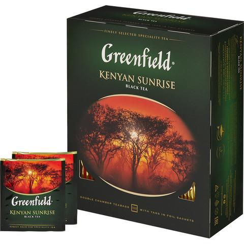 Чай Greenfield Kenyan Sunrise черный 100 пакетиков