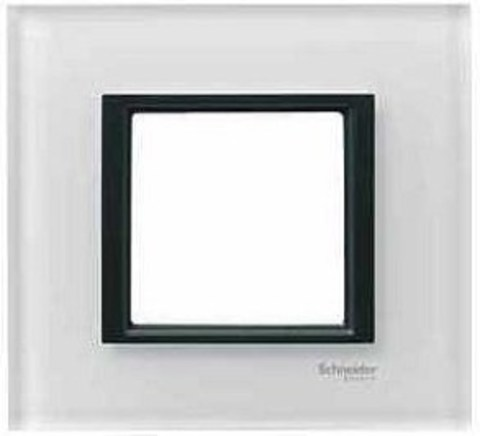 Рамка на 1 пост. Цвет Белое стекло. Schneider electric Unica Class. MGU68.002.7C2