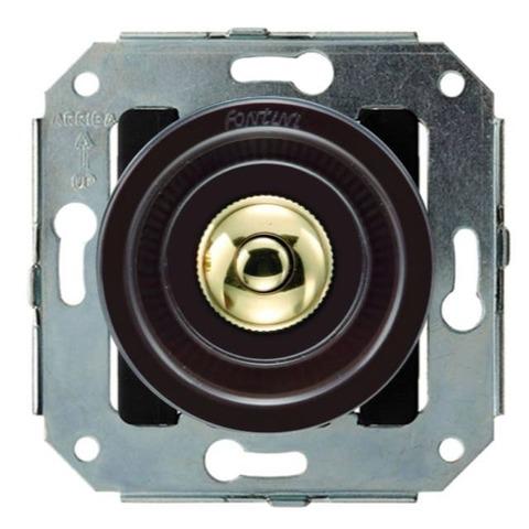 Выключатель/кнопка нажимной 10А 250В~. Цвет Золото/коричневый. Fontini Venezia(Фонтини Венезия). 35310542