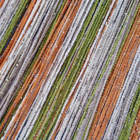 Шторы радуга дождь - Белая, оранжевая, оливковая. Ш-300см., В-280см. Арт. 106