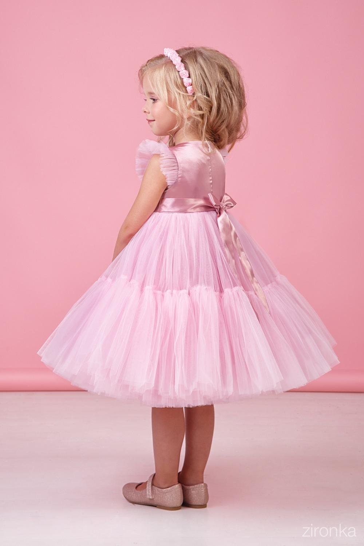 Платье розовое для девочки 38-9002-5