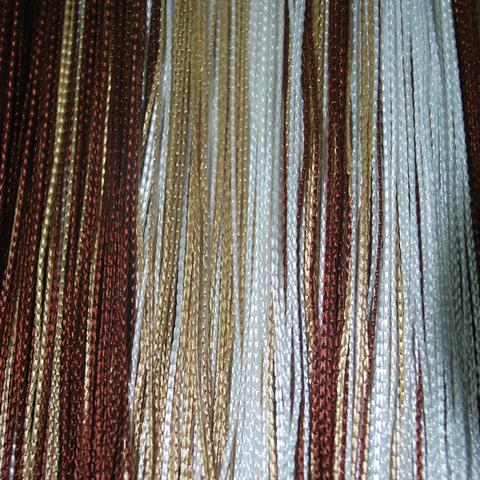 Кисея радуга облегченная белый-коричневый-бежевый. Арт.1-8-14