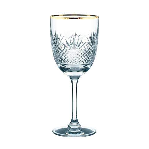 Бокал для вина White Wine с золотой каймой 260 мл, артикул 93889. Серия Royal