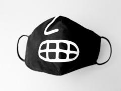 Маска «С носом»  защитная черная