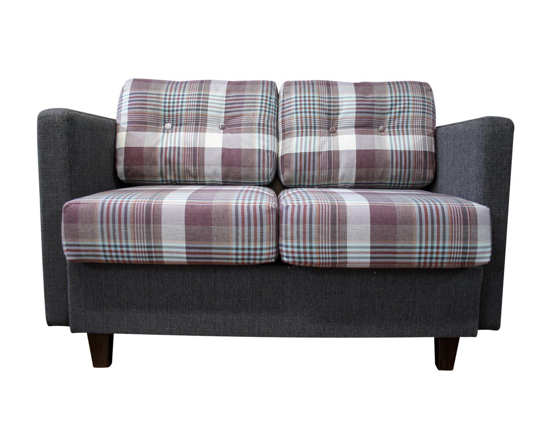 диван 2-местный Япошка с подлокотниками, подушки с втяжками пуговицами