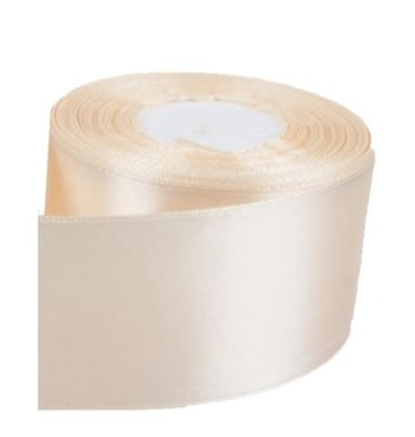 Лента атласная (размер: 50мм х 30м) Цвет:кремовая