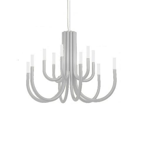 Подвесной светильник копия Palma by Alma 12 плафонов (белый)