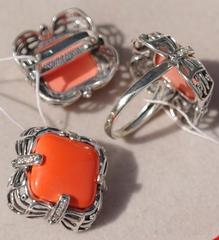 Кванга  (кольцо + серьги из серебра)