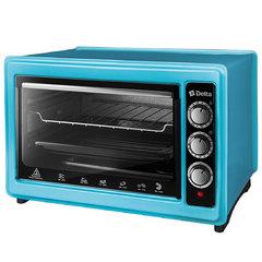 Мини печь   Духовка электрическая 1300 Вт 37 л DELTA D-0123 голубая