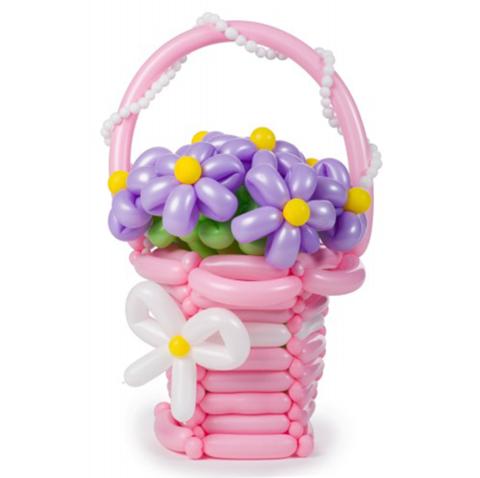 цветы из шаров, ромашка из шаров