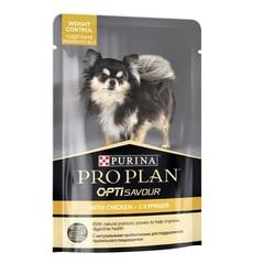 Purina Pro Plan WEIGHT CONTROL пауч для собак склонных к набору веса с курицей 100 г 1 шт