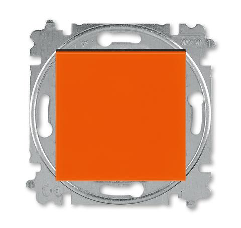 Выключатель одноклавишный. Цвет Оранжевый / дымчатый чёрный. ABB. Levit(Левит). 2CHH590145A6066