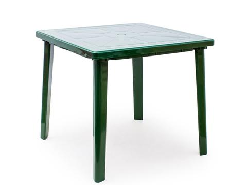 Пластиковый стол квадратный темно-зеленый