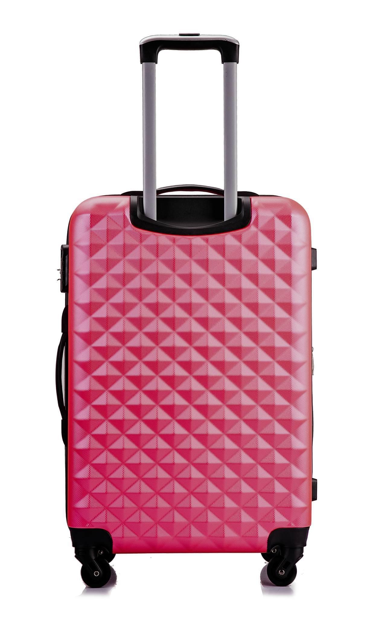 Чемодан с расширением L'case Phatthaya-28 Розовый (XL)