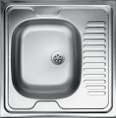 Мойка КромРус S-409 для кухни из нержавеющей стали, правая