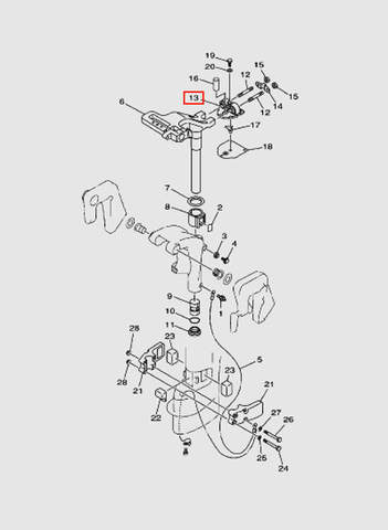 Монтажная панель демпфера  для лодочного мотора T15, OTH 9,9 SEA-PRO (14-13)